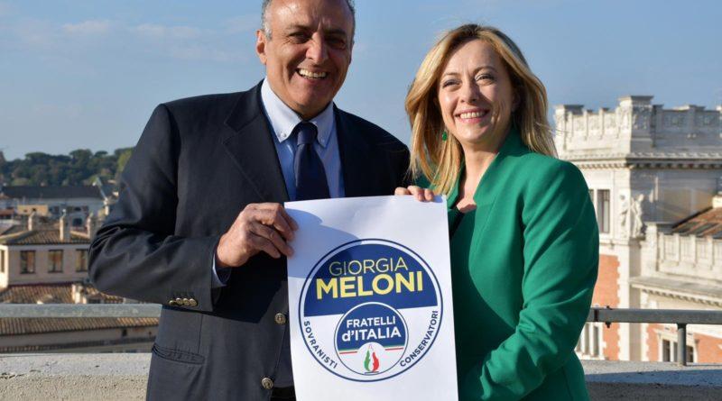 Iannarilli aderisce a Fdi. Meloni: la sua esperienza è un valore aggiunto