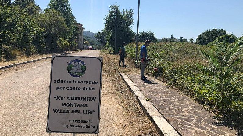 interventi pulizia strade fontana liri il corriere della provincia