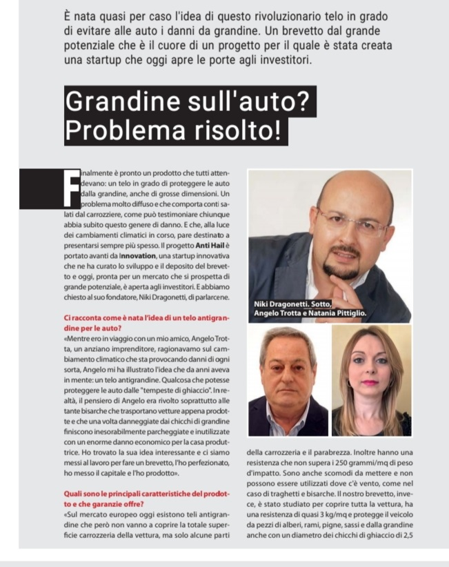 Grandine sull'auto? La start up innovativa di Niki