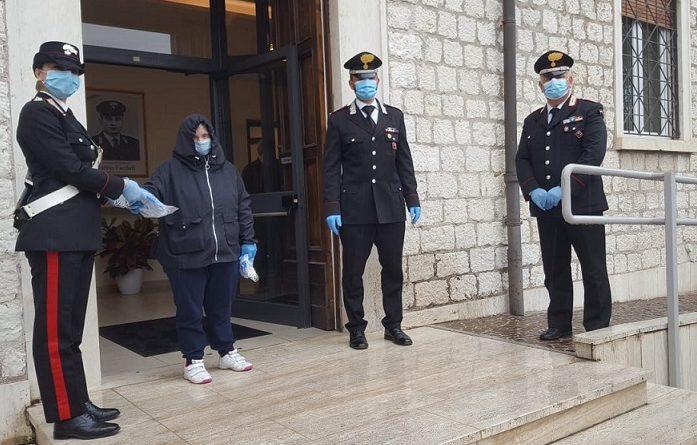 carabinieri mascherine down il corriere della provincia