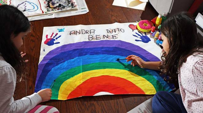 arcobaleno coloravirus il corriere della provincia