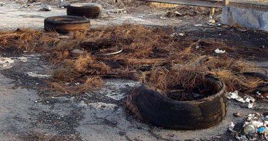 pneumatici bruciati il corriere della provincia