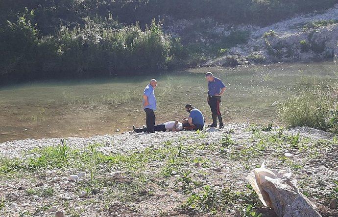 anziano caduto fiume il corriere della provincia