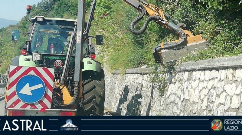 lavori pulizia stradale regionale montecassino