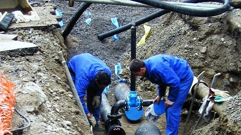 lavori centrale idrica
