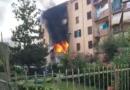 Frosinone, spaventoso incendio in una palazzina di piazza Fiume