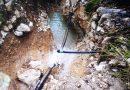 Val Canneto, frana travolge la condotta: squadre di Acea al lavoro per riparare il guasto