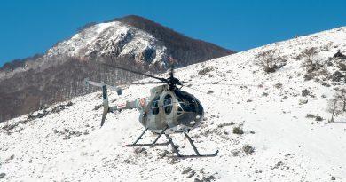 elicottero monti ernici