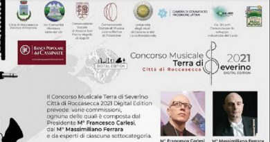 Roccasecca, tutto pronto per il concorso musicale 'Terra di Severino digital edition'