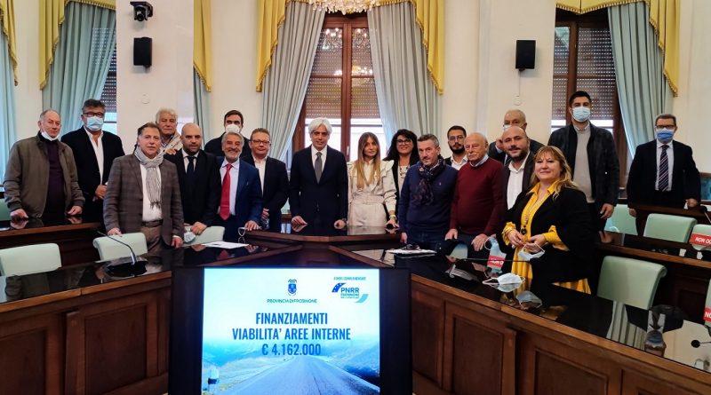 Provincia: oltre 4 milioni di euro per la viabilità delle Aree Interne della Valcomino. Pompeo convoca i sindaci