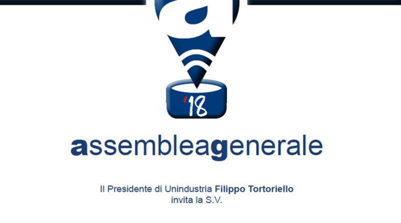 Assemblea generale Unindustria Frosinone Ciociaria Tortoriello Tajani Zingaretti Salvini 16 ottobre 2018 Auditorium della tecnica Roma