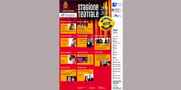 Stagione teatrale autunnale 2018 Nestor Frosinone Ciociaria Nicola Ottaviani teatro cultura