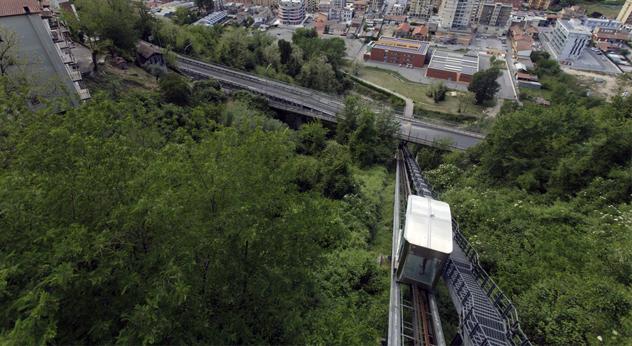 ascensore inclinato lavori in corso blindovia trasporto pubblico amministrazione comunale Frosinone Ciociaria Regione Lazio