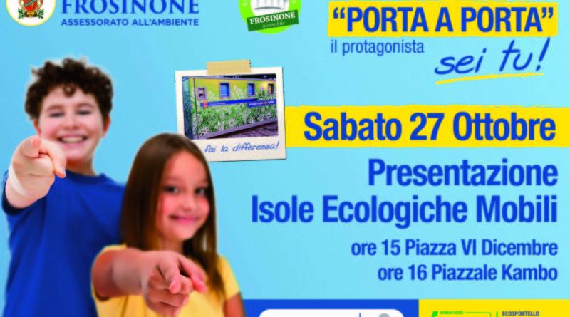 Ambiente isole ecologiche Nicola Ottaviani Massimiliano Tagliaferri rifiuti Frosinone Ciociaria