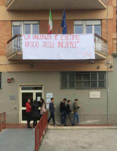 Giornata contro la violenza sulle donne liceo scientifico Francesco Severi Frosinone Ciociaria
