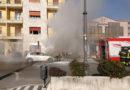 Frosinone – Auto avvolta dalle fiamme, paura in via Aldo Moro