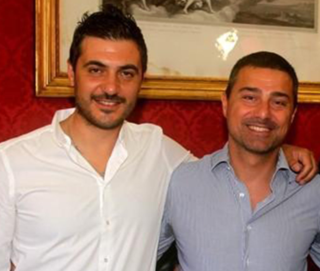 L'assessore Carlo Marino insieme al sindaco Daniele Natalia