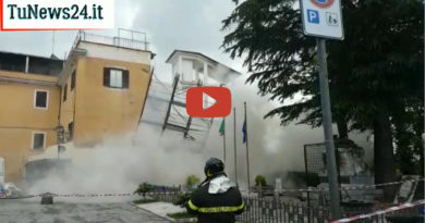 crollo palazzo ceprano frosinone ciociaria paura vigili del fuoco
