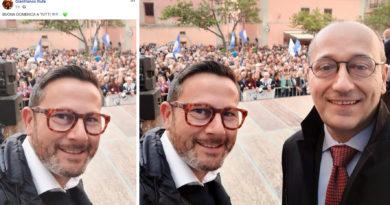 Gianfranco Rufa Lega Palco Matteo Salvini primo maggio Civitavecchia Frosinone Ciociaria Veroli