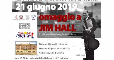 Frosinone – Refice, venerdì l'omaggio a Jim Hall