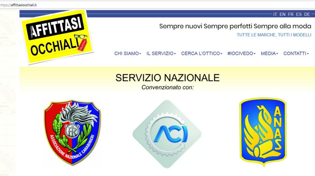 circuito affittasi occhiali rent too reddito di cittadinanza convenzioni aci anas associazione nazionale carabinieri