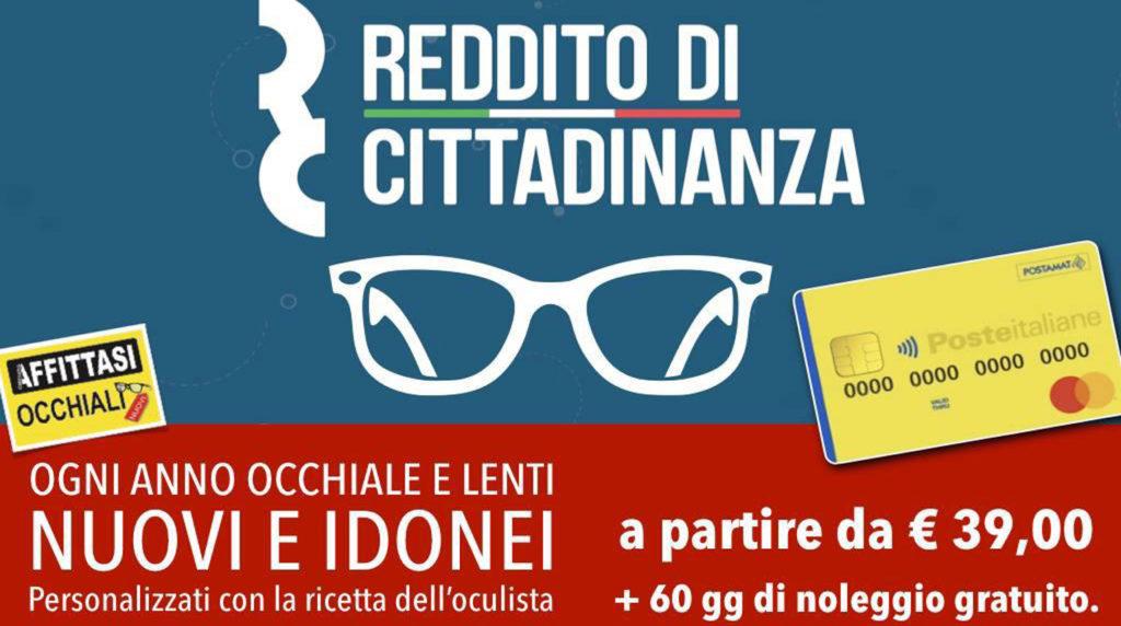 affittasi occhiali offerta reddito di cittadinanza