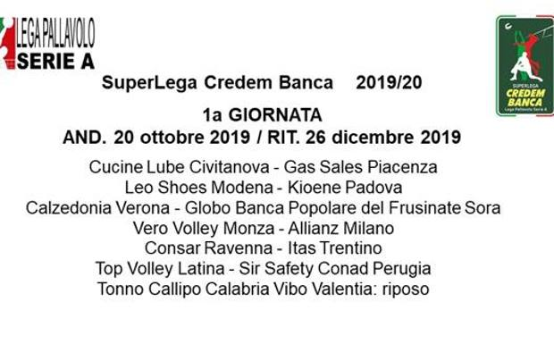 Globo Sora Calendario.Volley Ecco Il Calendario 2019 20 Sora Subito In