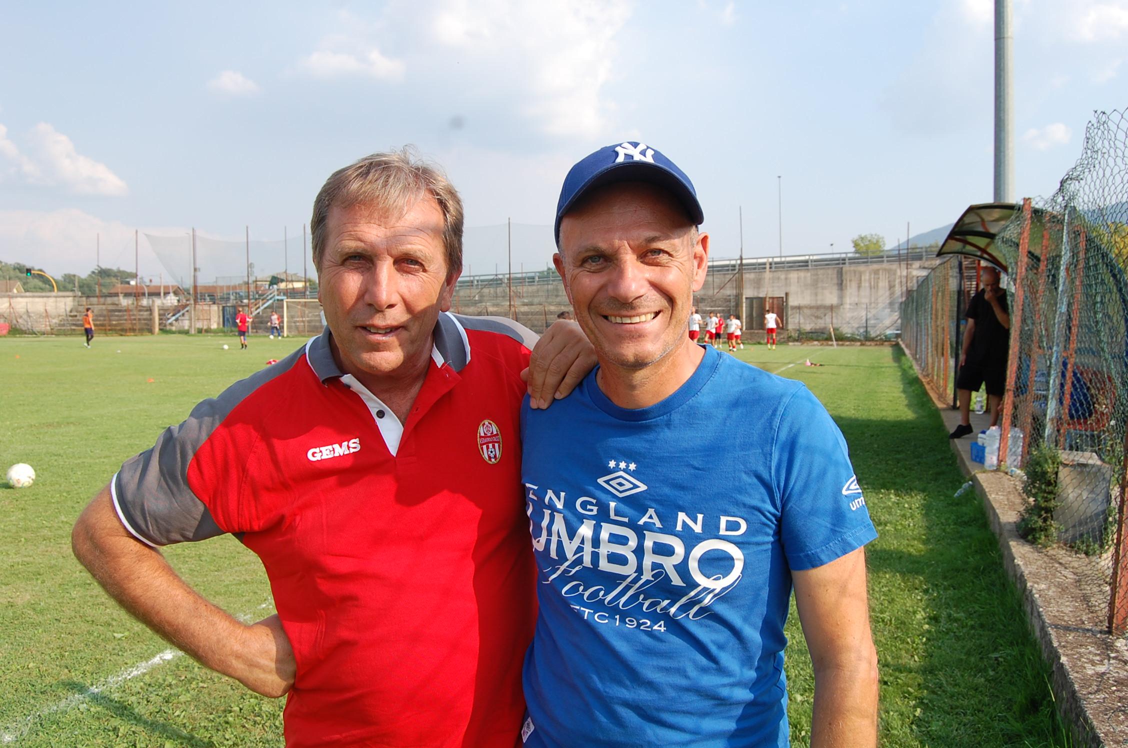 Gli allenatori Staffa e Carlini