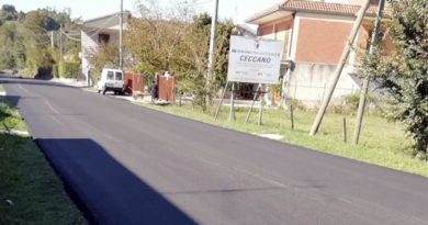 """attualità lavori in corso lavori stradali Frosinone Ciociaria Viabilità lavori di sistemazione stradale Ceccano Arnara Amministrazione provinciale sicurezza stradale lavori di manutenzione Germano Caperna S.P. 14 """"Farneta"""" S.P. 5 """"Marano"""" Provincia di Frosinone strade"""