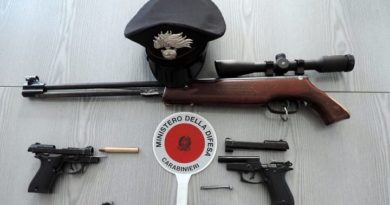 armi, carabinieri,sequestro,arresto,aquino,ciociaria