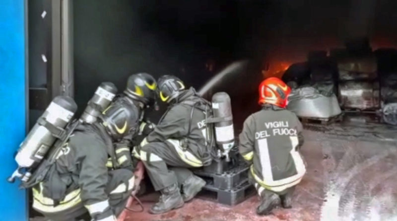 vigili del fuoco incendio frosinone