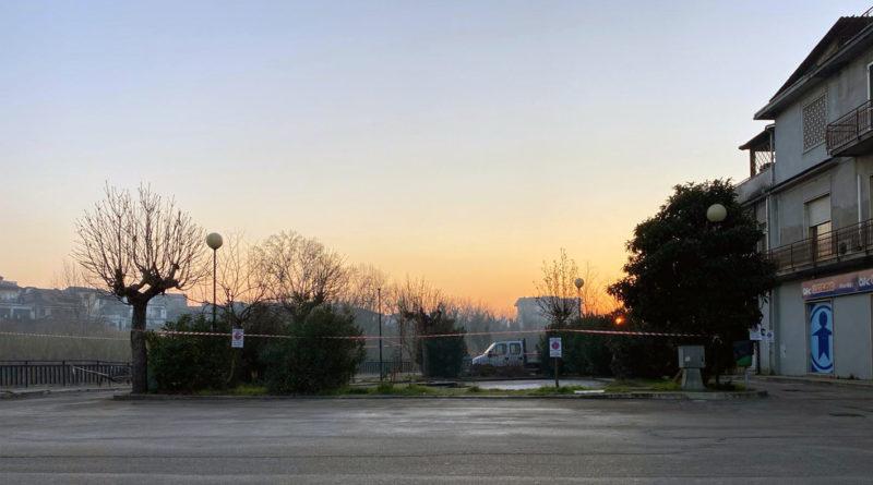 attualità lavori in corso politica Frosinone Ciociaria Pontecorvo piazza Annunziata via Stazzoni Anselmo Rotondo infrastruttura parcheggio auto