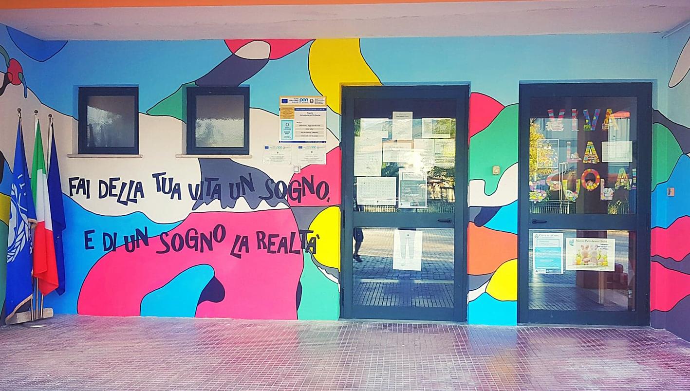 Alatri – Un murales per i bambini della scuola dell'infanzia di Tecchiena