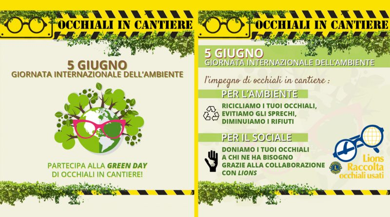 occhiali in cantiere green day