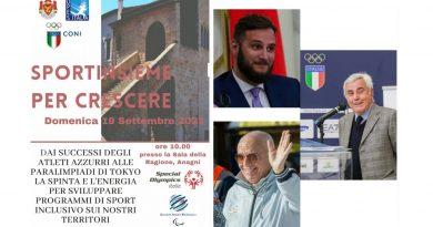 """Anagni – Appuntamento al 19 settembre con il convegno """"Sportinsieme per crescere"""""""