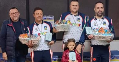 BOCCE – Trionfano Ianni, Benacquista, Petitta nei Campionati Provinciali 2021 a terna