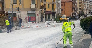 Frosinone, gasolio in strada: la municipale rintraccia l'autore